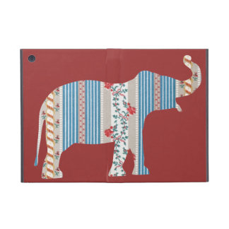 Vintage Antique Elephant Pattern Wallpaper Floral Case For iPad Mini