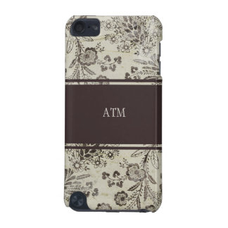 Vintage Antique Floral Custom Monogram Initials iPod Touch 5G Covers