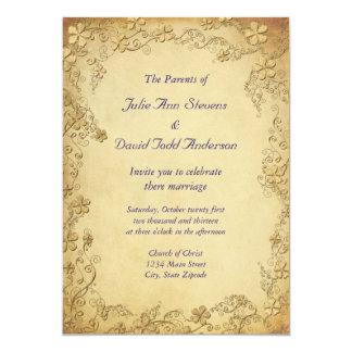 Vintage Antique Floral Wedding Custom Announcements