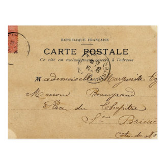 Vintage Antique French Post Card