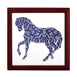 Vintage Antique Horse Pattern Decorative Design Large Square Gift Box