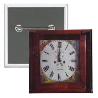 Vintage Antique Immitation Swiss Clock design gift 15 Cm Square Badge