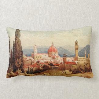 Vintage Antique Italy Florence Boboli Gardens Lumbar Cushion