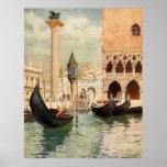 Vintage Antique Italy Venice Gondola Shrine