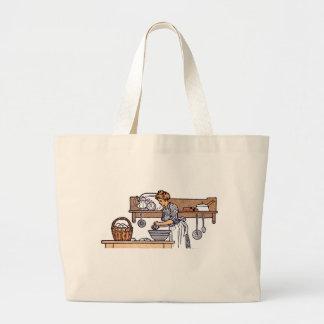 Vintage Antique Kitchen Grocery Tote Bag