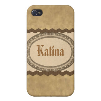 Vintage Antique Look Oval Name Case iPhone 4 iPhone 4 Covers