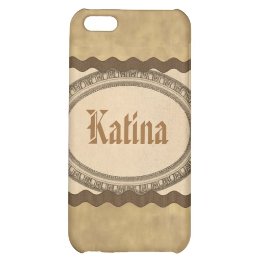 Vintage Antique Look Oval Name Case iPhone 4 Case For iPhone 5C