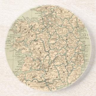 Vintage Antique Map Ireland Republic Northern Coaster