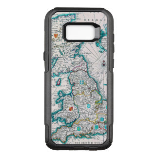 Vintage Antique Map of Britannia OtterBox Commuter Samsung Galaxy S8+ Case