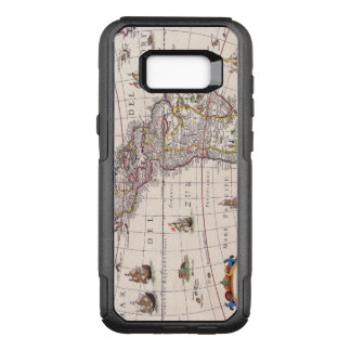 Vintage Antique Map of the Americas Circa 1650 OtterBox Commuter Samsung Galaxy S8+ Case