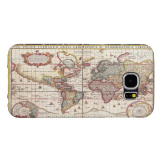 Vintage Antique Map of the Known World Circa 1652 Samsung Galaxy S6 Cases