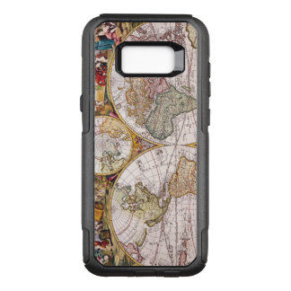 Vintage Antique Map of the World Circa 1686 OtterBox Commuter Samsung Galaxy S8+ Case