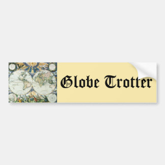 Vintage Antique Old World Map, 1666 by Pieter Goos Bumper Sticker