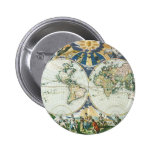 Vintage Antique Old World Map by Pieter Goos, 1666 Pinback Button