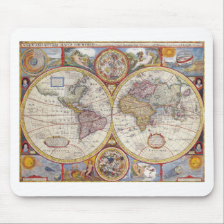 Vintage Antique Old World Map cartography Mouse Pad