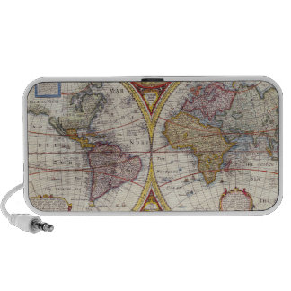 Vintage Antique Old World Map cartography Portable Speakers