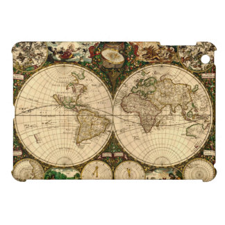 Vintage Antique Old World Map Case For The iPad Mini