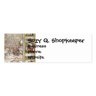 Vintage Antique Old World Map Design Faded Print Double-Sided Mini Business Cards (Pack Of 20)