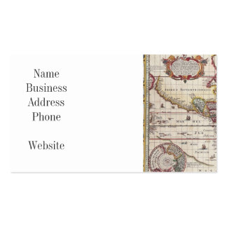 Vintage Antique Old World Map Design Faded Print Pack Of Standard Business Cards