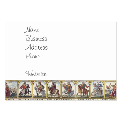 Collections of antique map print business cards - Design and print business cards at home ...