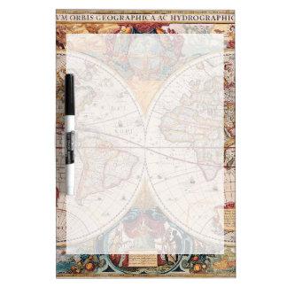 Vintage Antique Old World Map Design Faded Print Dry-Erase Boards
