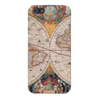 Vintage Antique Old World Map Design Faded Print iPhone 5 Case