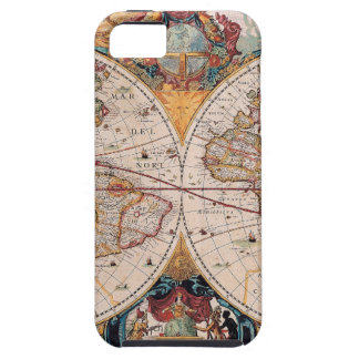 Vintage Antique Old World Map Design Faded Print iPhone 5 Covers
