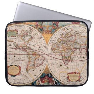 Vintage Antique Old World Map Design Faded Print Laptop Sleeve