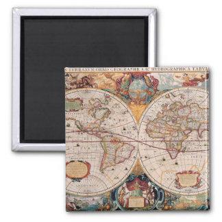Vintage Antique Old World Map Design Faded Print Fridge Magnet