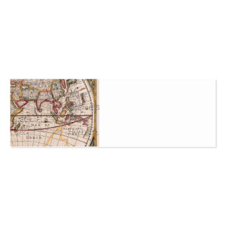 Vintage Antique Old World Map Design Faded Print Pack Of Skinny Business Cards