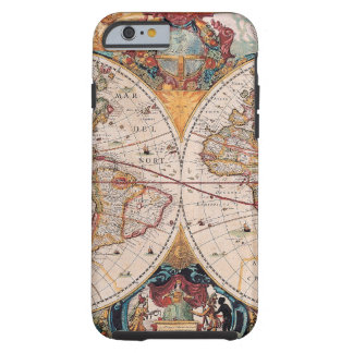 Vintage Antique Old World Map Design Faded Tough iPhone 6 Case