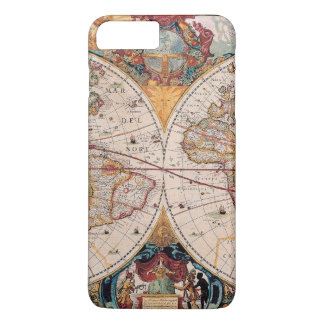 Vintage Antique Old World Map iPhone 7 Plus Case