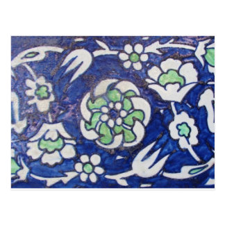 Vintage Antique Ottoman Style ceramic tile Postcard