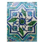 Vintage Antique Ottoman Tile Design Postcard