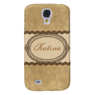 Vintage Antique Oval Name Case iPhone 3G/3GS Galaxy S4 Case