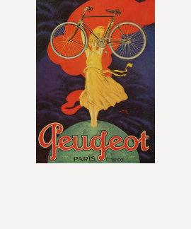 Vintage Antique Peugeot Bicycles Bike Tshirts