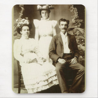 Vintage Antique Picture of Family Mouse Pad