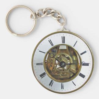 Vintage Antique Pocket Watch Basic Round Button Key Ring
