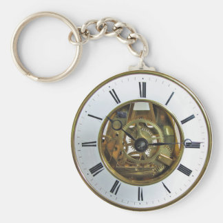 Vintage Antique Pocket Watch Key Ring
