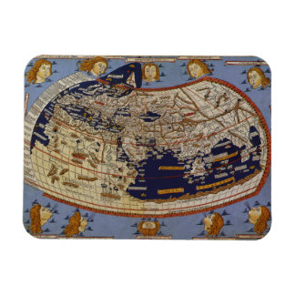 Vintage Antique Ptolemaic World Map, 1482 Rectangular Photo Magnet