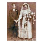 Vintage Antique Romantic Bride and Groom Photos Postcard