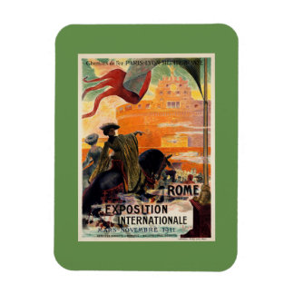 Vintage antique Rome 1911 expo travel ad Magnet