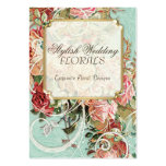 Vintage Antique Roses Floral Bouquet Modern Swirls Pack Of Chubby Business Cards