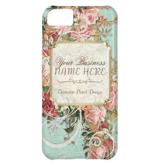 Vintage Antique Roses Floral Bouquet Modern Swirls iPhone 5C Cover