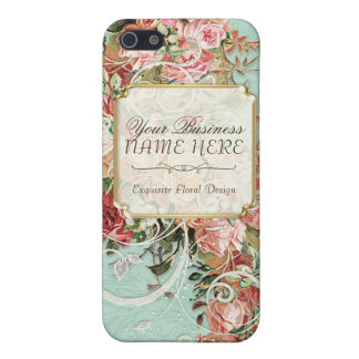 Vintage Antique Roses Floral Bouquet Modern Swirls iPhone 5/5S Case