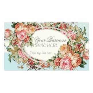 Vintage Antique Roses Floral Bouquet Modern Swirls Pack Of Standard Business Cards