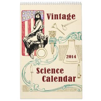 Vintage Antique Scientist American Invention Calendar