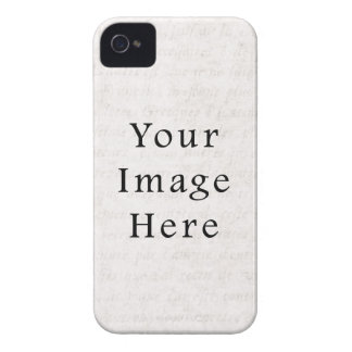 Vintage Antique Script Parchment Paper Background iPhone 4 Cover