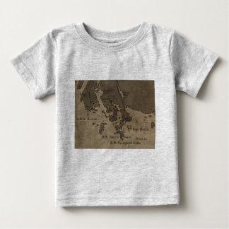Vintage Antique Ship Wreck Map T Shirts