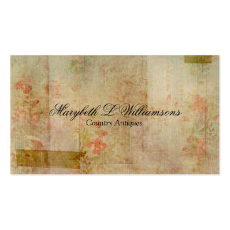 Vintage Antique Soft Flower Blends 2 Business Card Templates